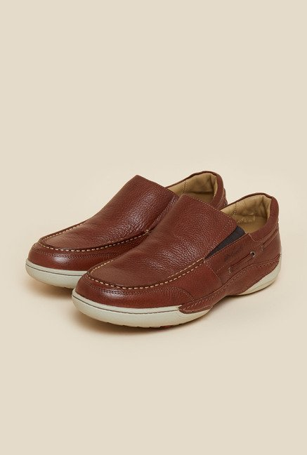 Da Vinchi by Metro Brown Leather Casual Shoes