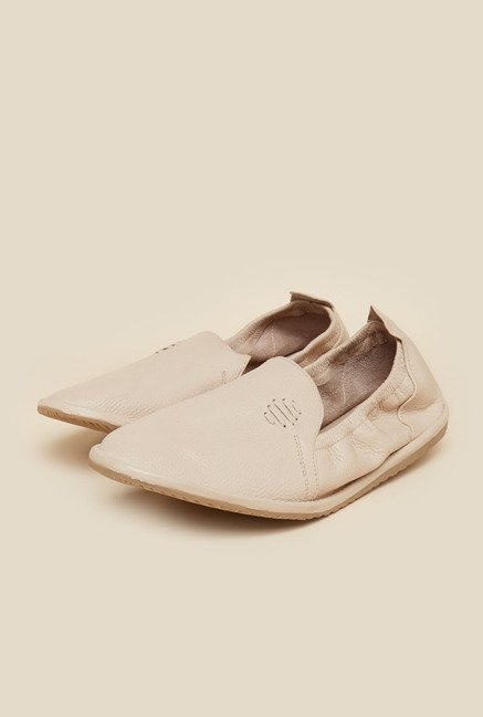 Metro Beige Leather Casual Shoes