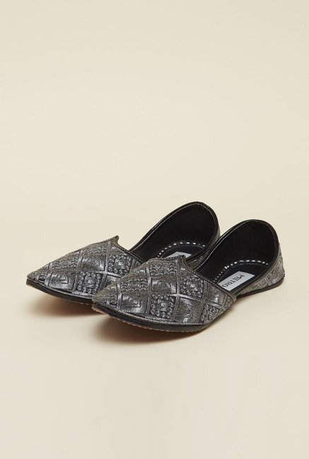 Metro Grey Casual Slip-on Shoes