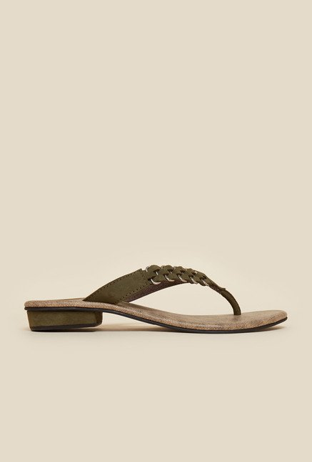 Metro Green Flat Casual Thongs