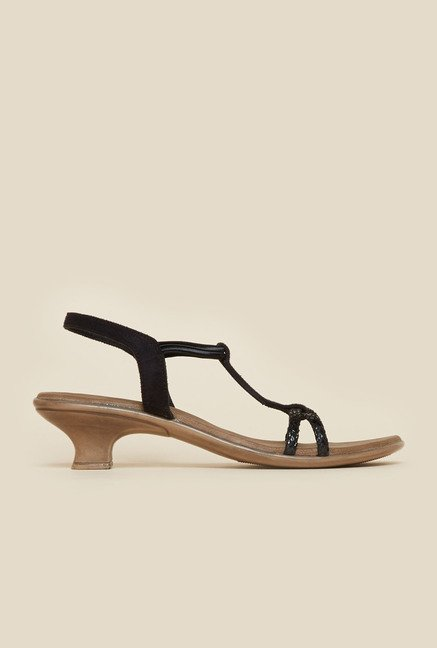 Metro Black Casual Sandals