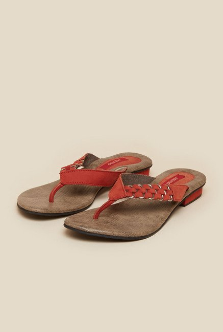 Metro Red Flat Casual Thongs