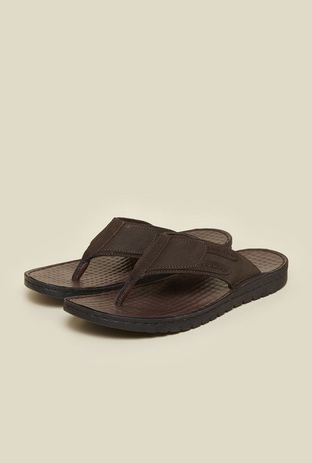 Metro Brown Casual Thong Sandals