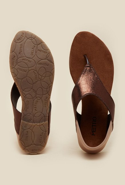 Metro Bronze Flat Casual Sandals