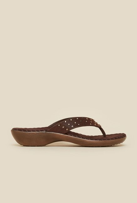 Metro Brown Casual Thongs