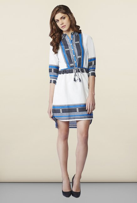 AND White Aztec Print Tunic