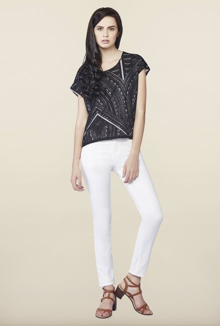 AND Black & White Printed Top