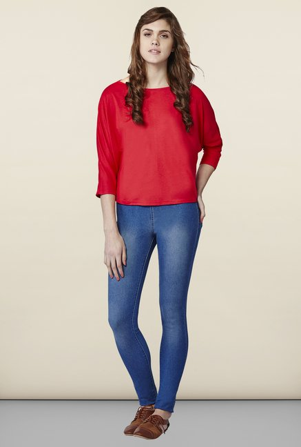 AND Scarlet Solid Top