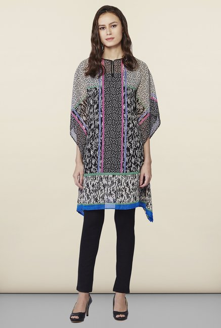 AND Black & White Printed Tunic