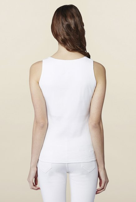 AND White Solid Tank