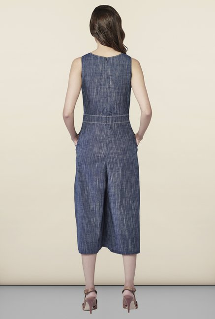 AND Dark Grey Solid Jumpsuit