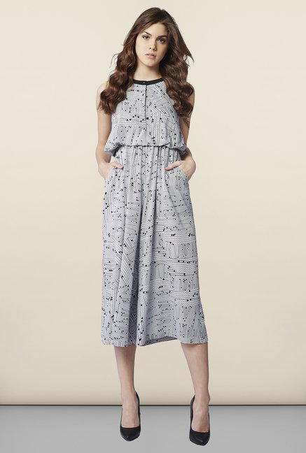 AND White Printed Jumpsuit