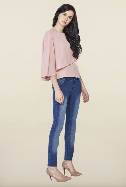 AND Pink Regular Fit Solid Top