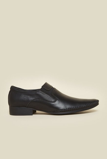 Da Vinchi by Metro Black Leather Formal Shoes