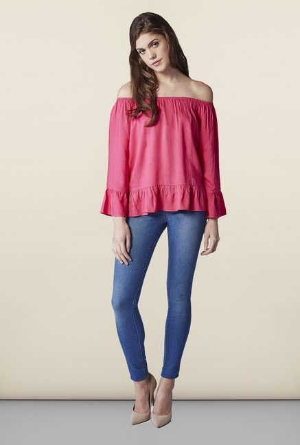 AND Pink Solid Top
