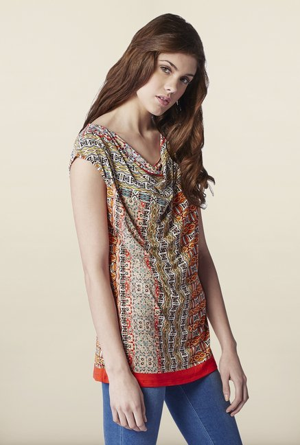 AND Multicolor Printed Top