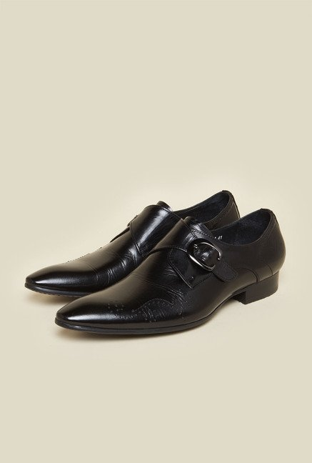 Da Vinchi by Metro Black Leather Casual Shoes