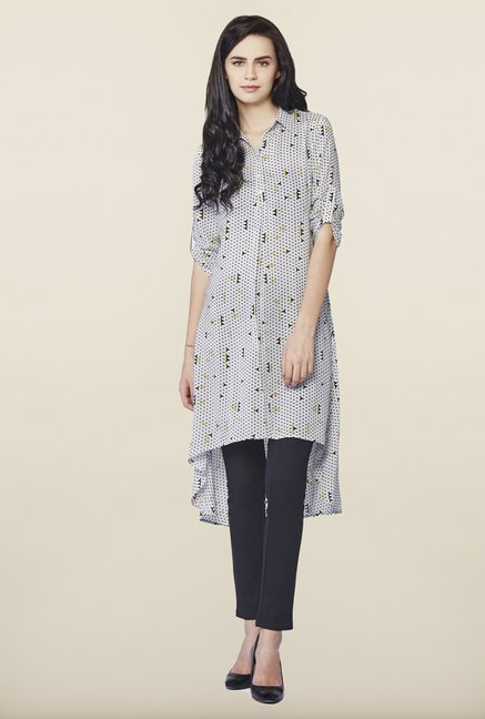 AND Beige Printed Tunic