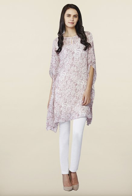 AND Pink Floral Print Tunic