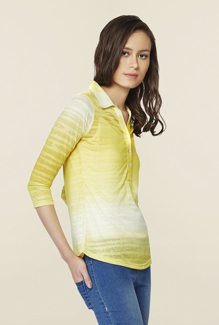 AND Lime Ombre Striped Top