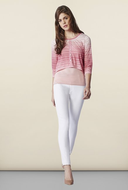 AND Pink Striped Top