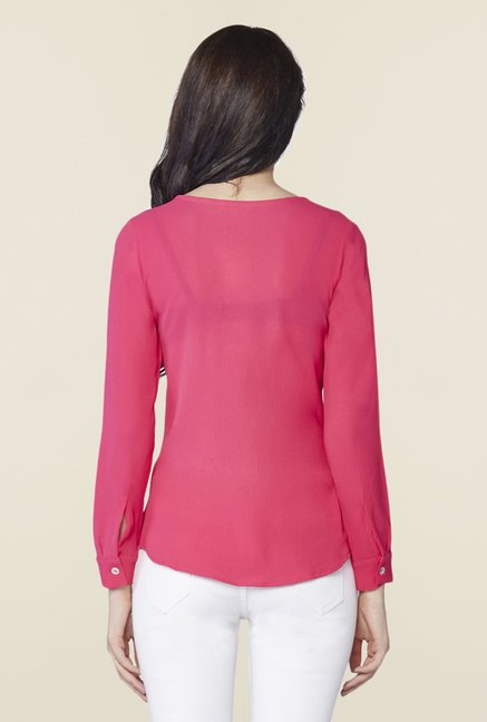 AND Hot Pink Solid Top
