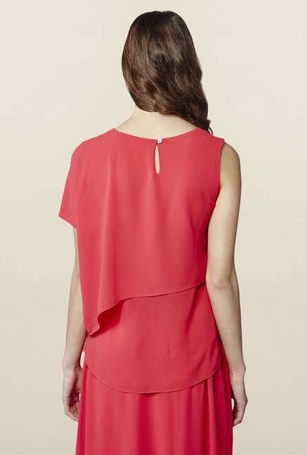 AND Pink Solid Sleeveless Top