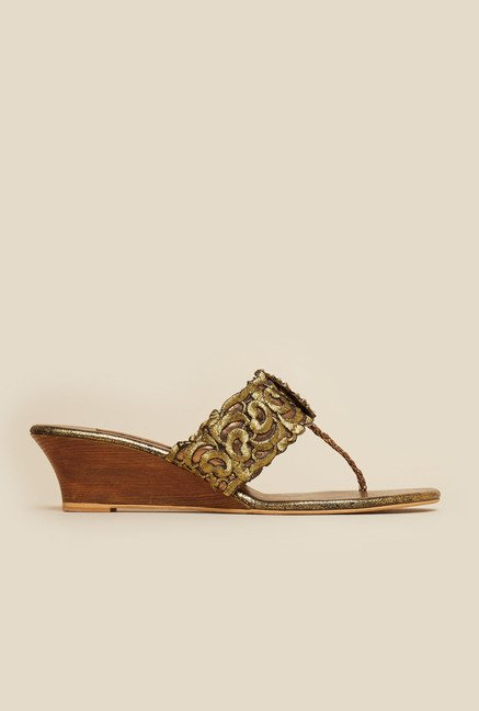 Metro Bronze Ethnic Wedges