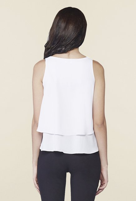 AND White Sleeveless Top