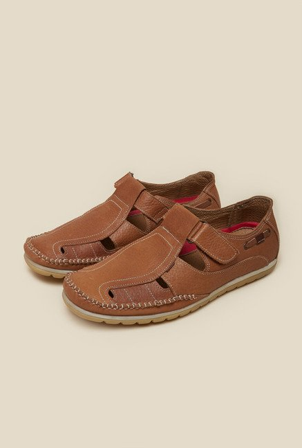 Metro Brown Leather Fisherman Sandals