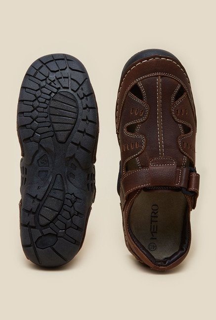 Metro Dark Brown Fisherman Sandals