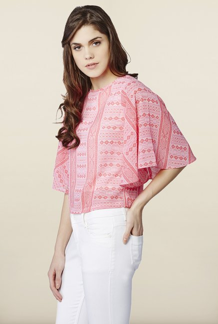 AND Coral Printed Top