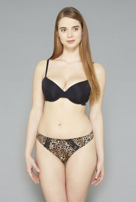 Wunderlove Black Lace T Shirt Bra