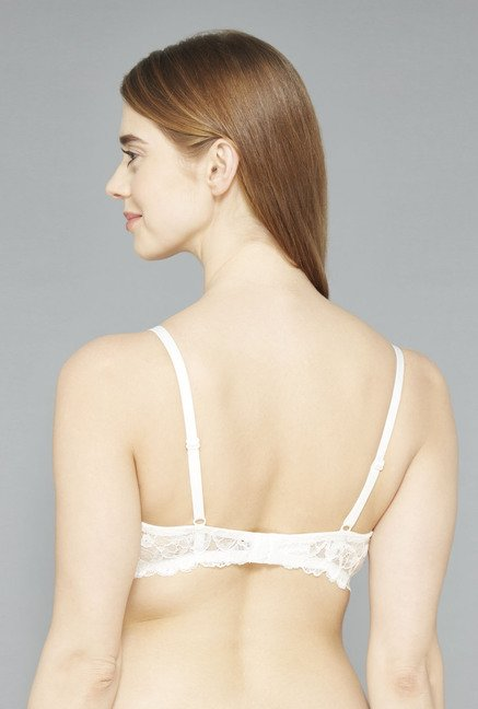 Wunderlove Off White Padded T Shirt Bra