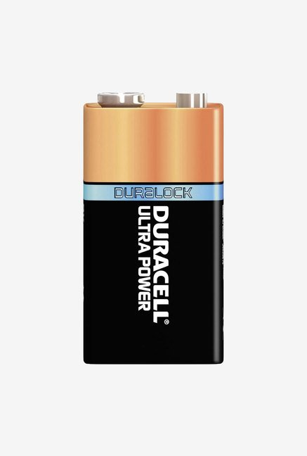 Duracell 9V 6LR61 Battery Black