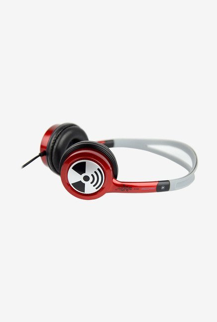 iFrogz Audio Ear Pollution Toxix Headphones Red