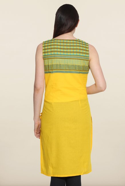 Aurelia Yellow Cotton Kurta
