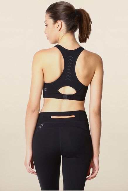 Puma Cardio Black Solid Sports Bra