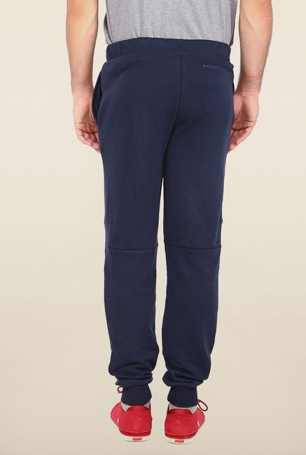 Puma Navy Solid Sweat Track Pants