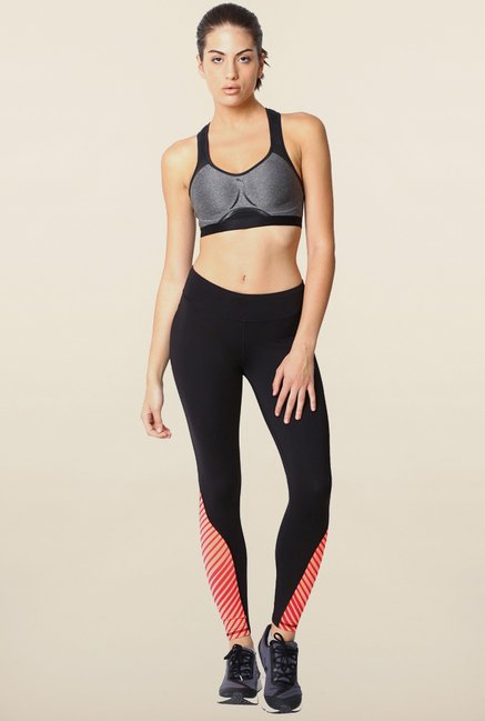 Puma Control Grey & Black Sports Bra