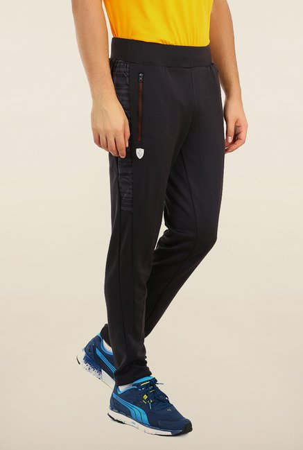 Puma Black Solid Track Pants