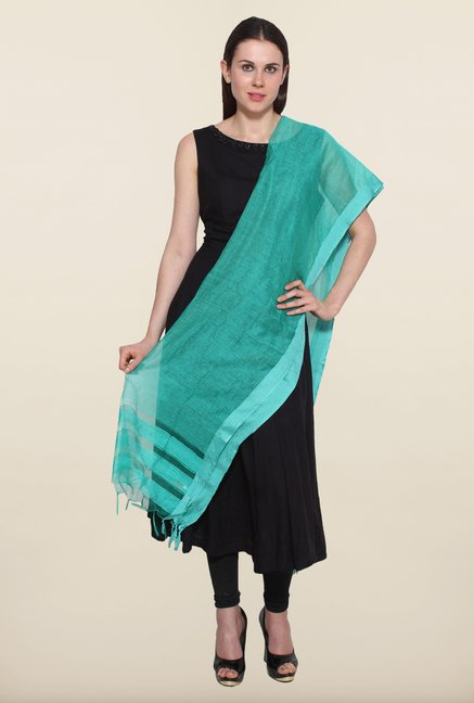Aurelia Aqua Striped Dupatta