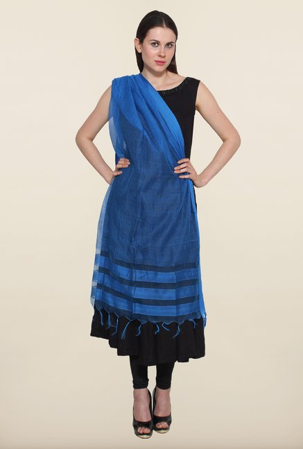 Aurelia Navy Striped Dupatta