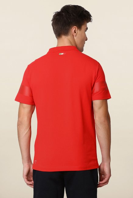 Puma Red Solid Ferrari Polo T shirt