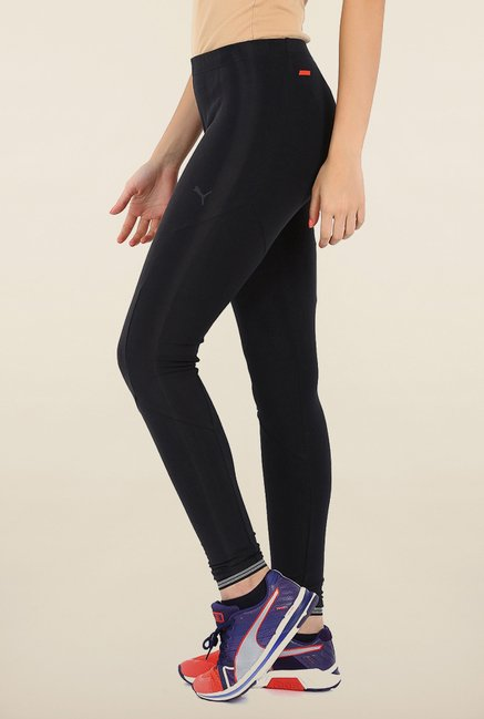 Puma Black Solid Ferrari Leggings