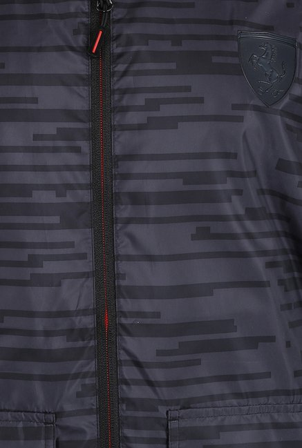 Puma Dark Grey Printed Ferrari Jacket