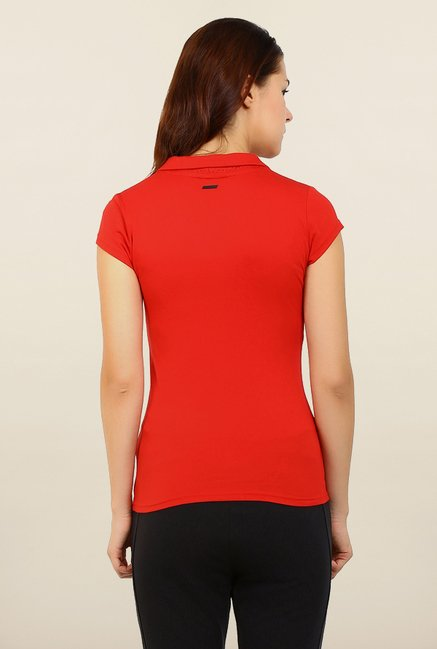 Puma Red Solid Ferrari Sports Tee