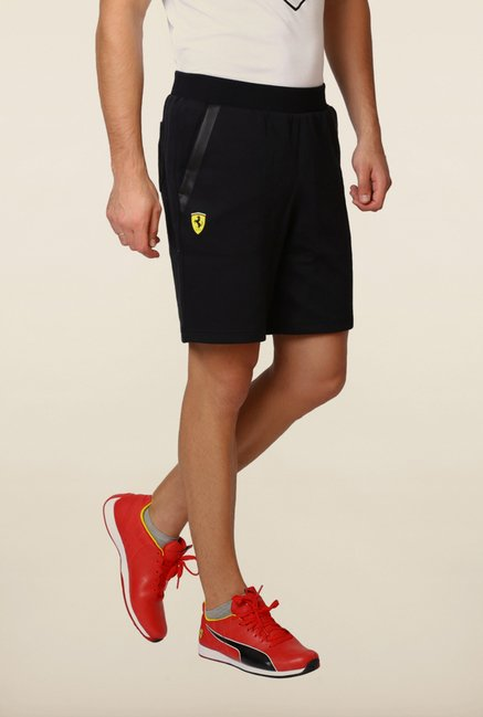Puma Black Solid Sweat Shorts