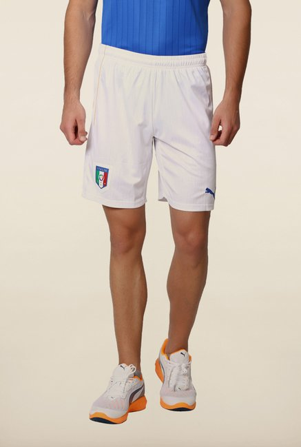 Puma White Solid Shorts