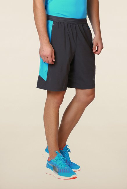 Puma Grey & Blue Printed Shorts